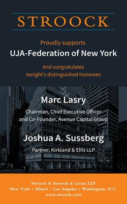 UJA-Federation Dinner Ad
