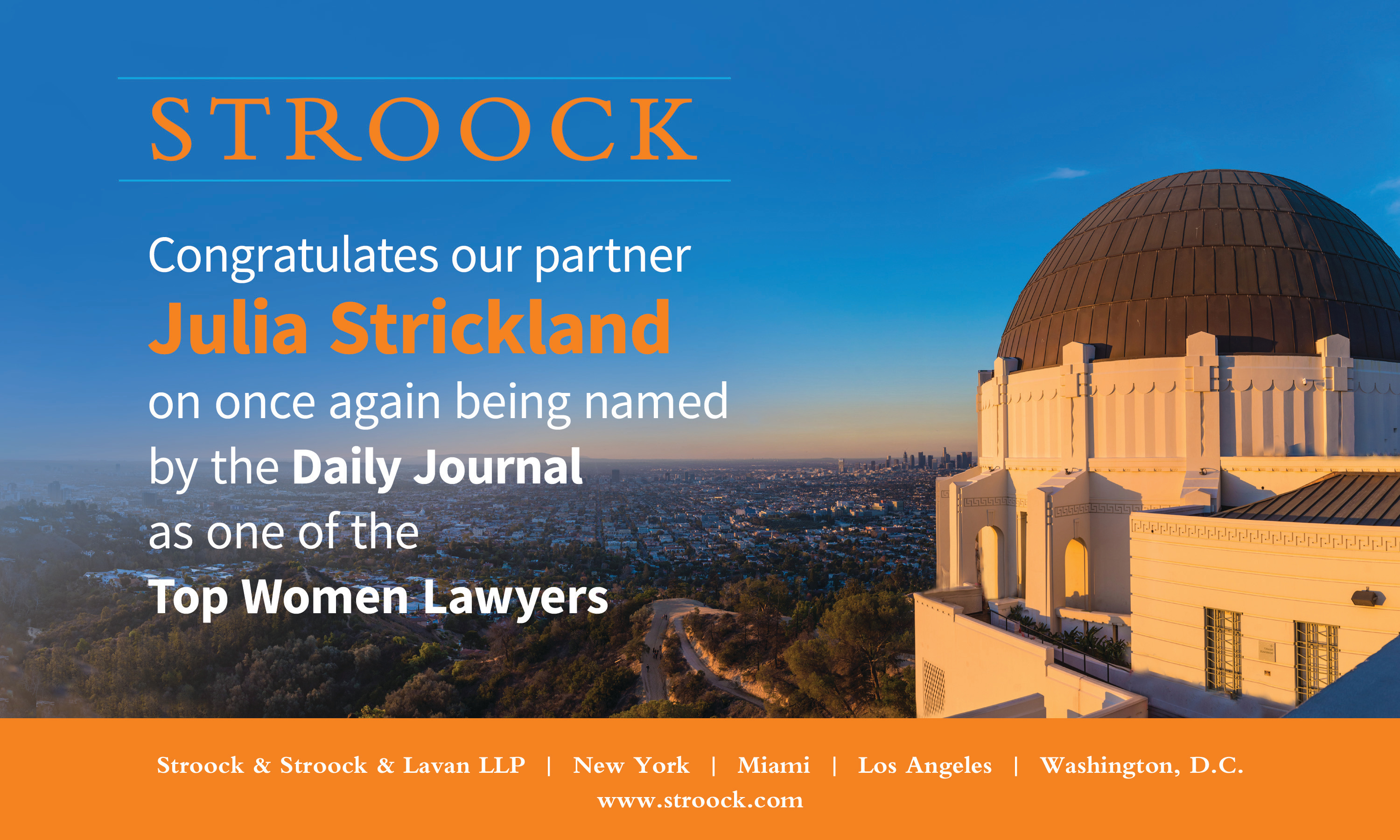 Top Women Lawyers Ad
