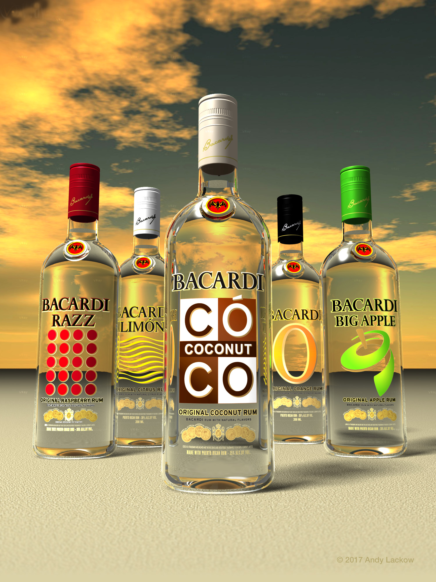 Bacardi Ad Illustration