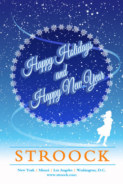 Stroock Holiday Card Comp With Skater an