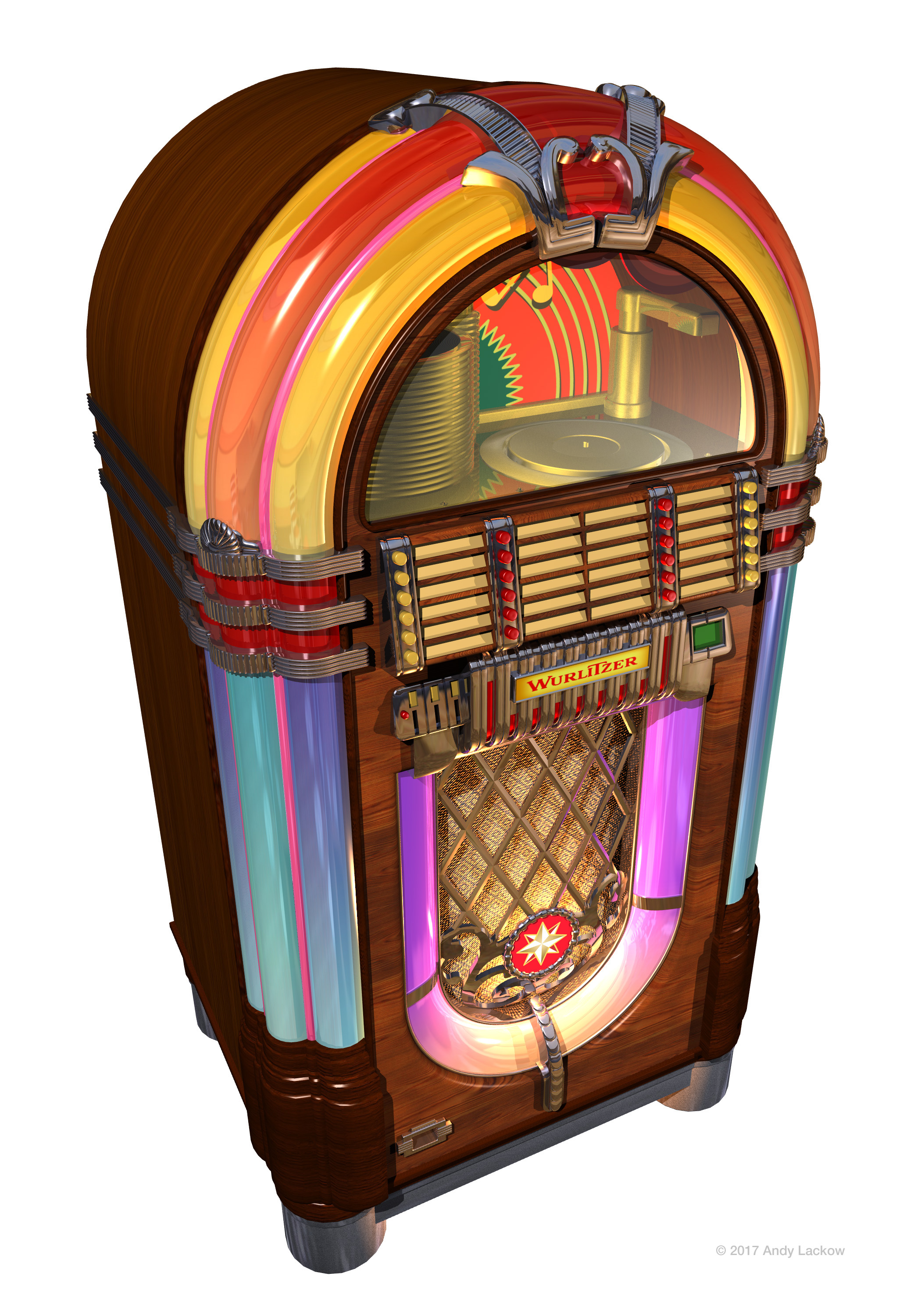 1940 Wurlitzer Jukebox 3D Model