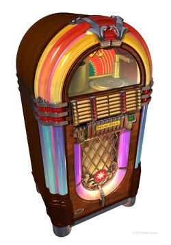 1940 Wurlitzer Jukebox 3D Model