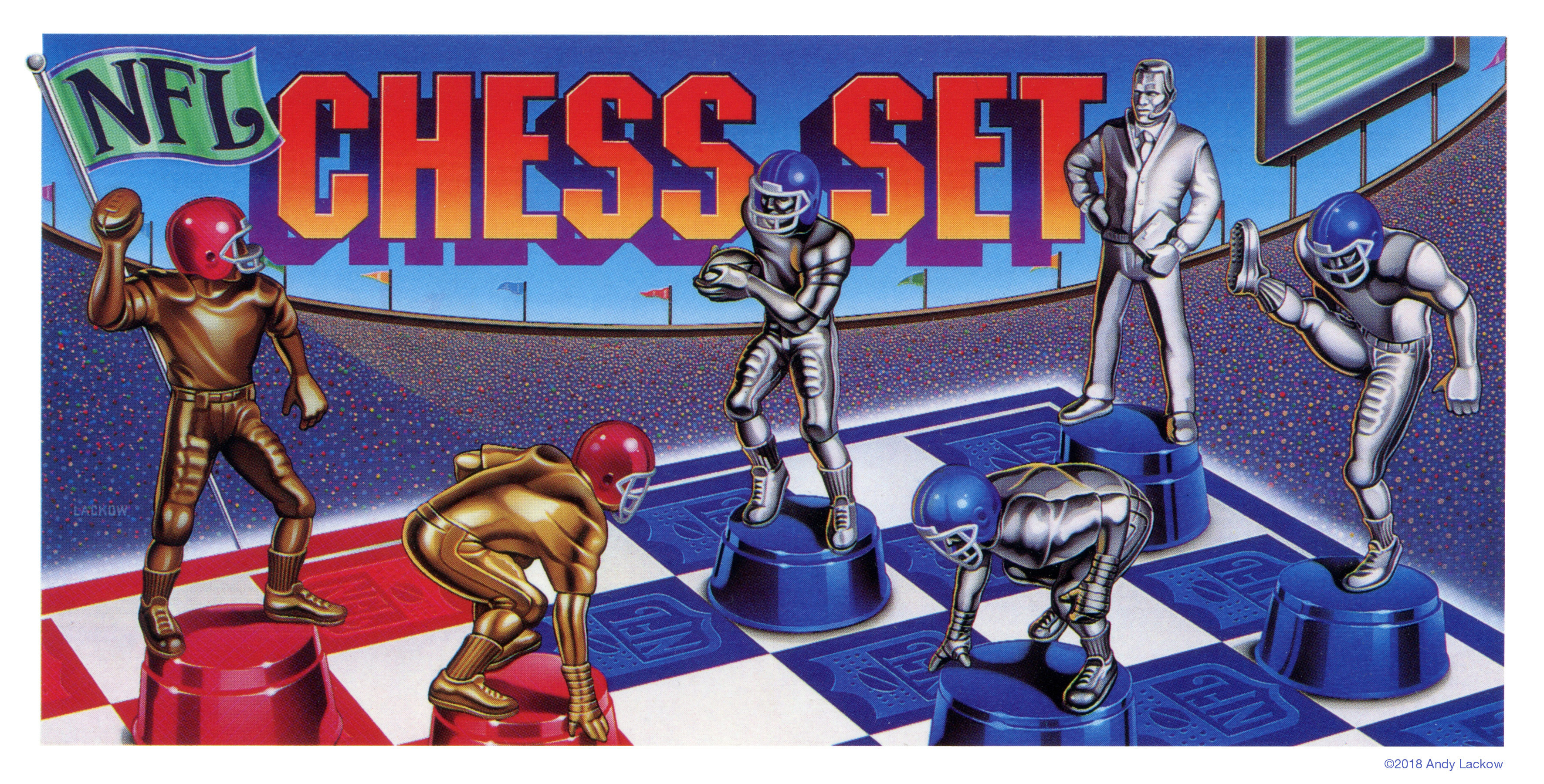 NFL Chess Game Package Artwork