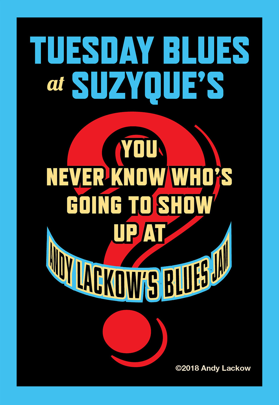Tuesday Night Blues Jam Poster