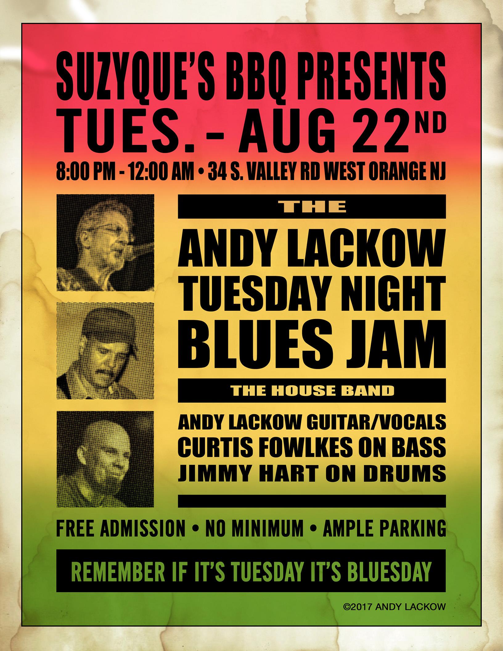 Tuesday Night Blues Jam Poster