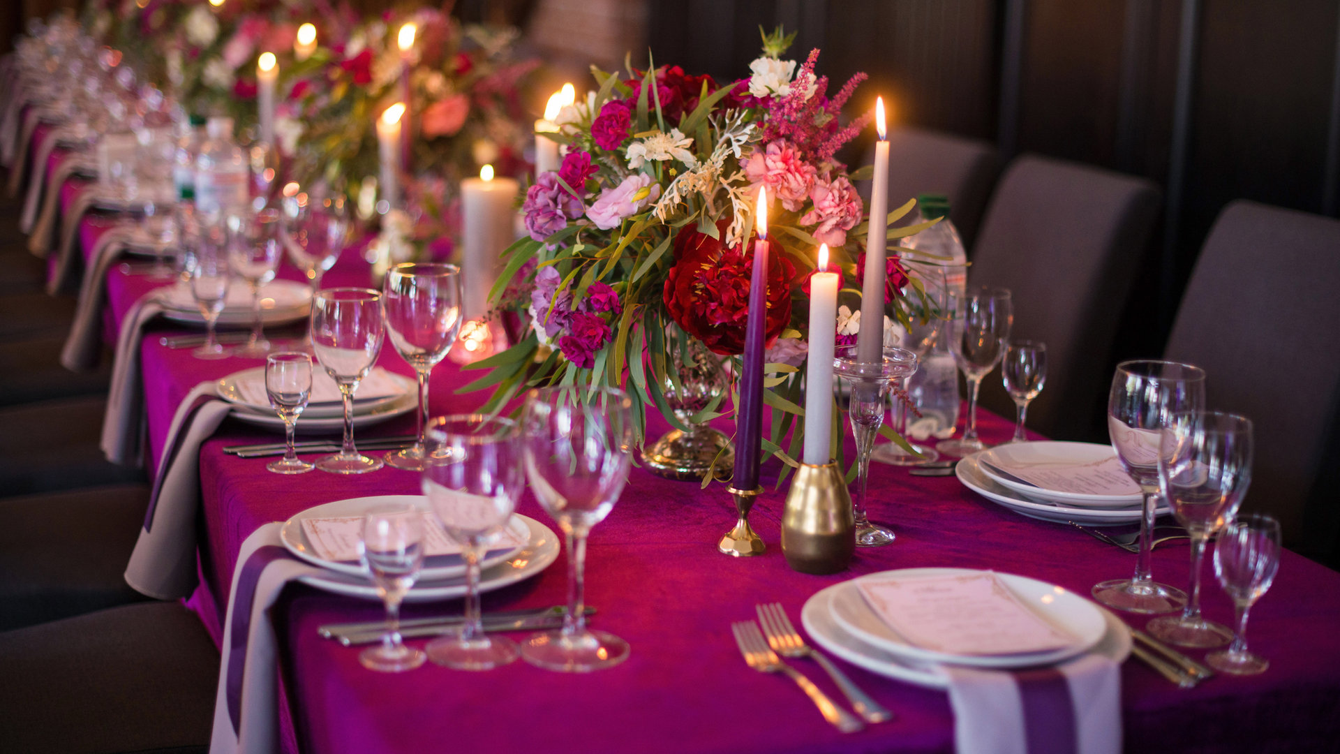 Purple Table decor