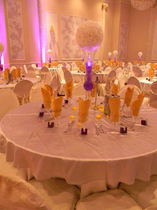 Purple & Gold Decore