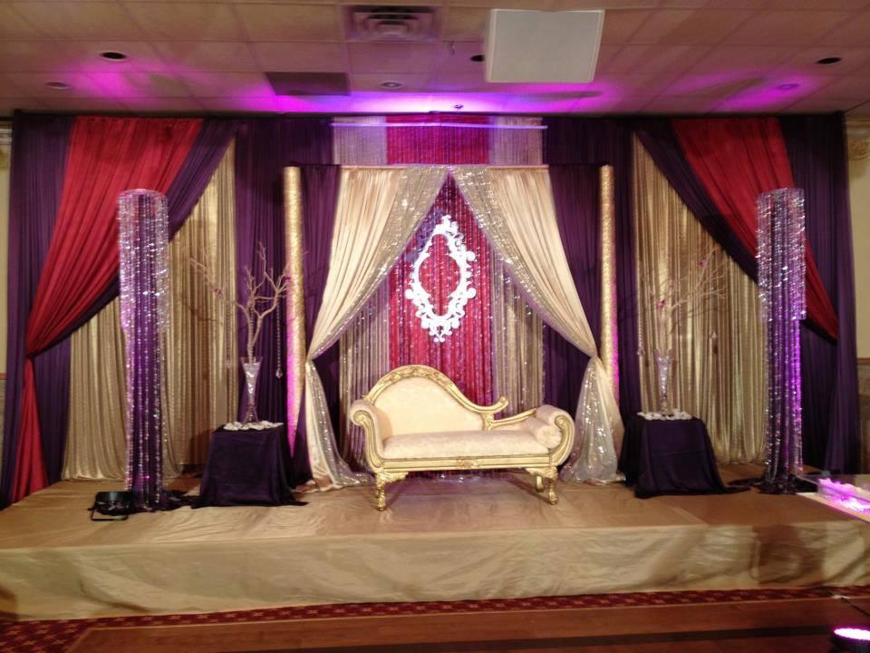 Purple Wedding Stage