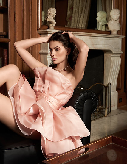 PINK ARCHITECTURAL DRESS