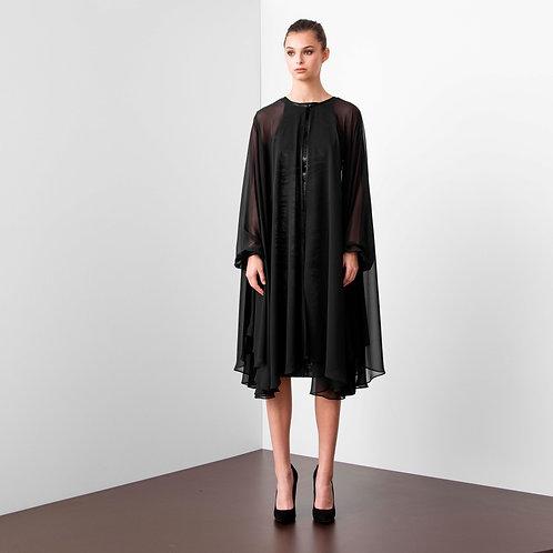Robe manteau couture collection Blue Velvet
