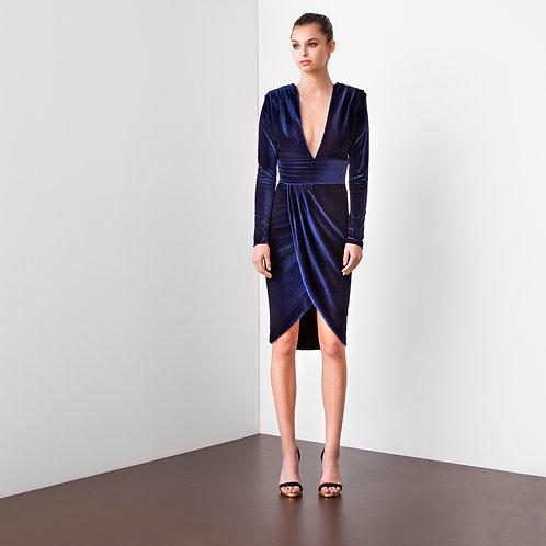 Robe couture collection Blue Velvet