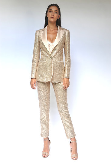 GOLD SEQUIN TUXEDO ( pants and jacket)