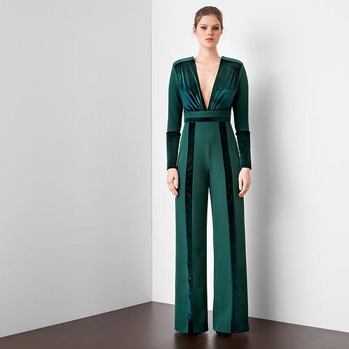 Combinaison couture collection Blue Velvet