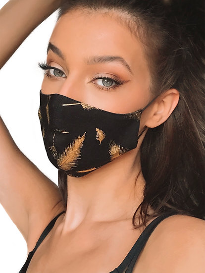 MASK GOLD FEATHERS