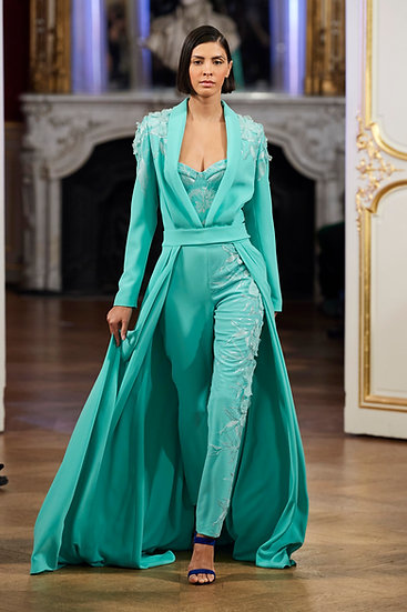 MINT 3 PIECES SET CORSET JACKET AND TROUSERS