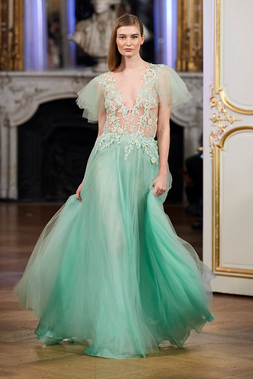 LIGHT GREEN TULLE DRESS