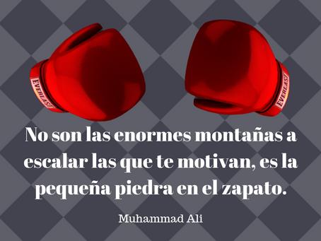 El gran Ali nos enseña cómo seguir adelante.