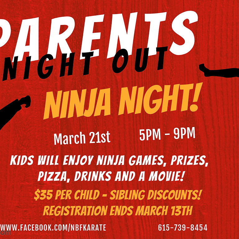 Parents Night Out - Ninja Night