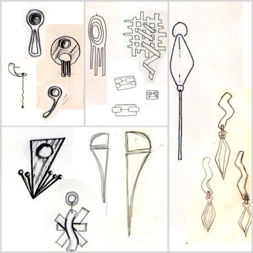 Na memória e no papel: Wagner ainda guarda alguns desenhos de joias feitos há quase 30 anos.