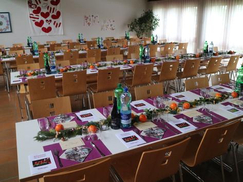 dekorierte Aula