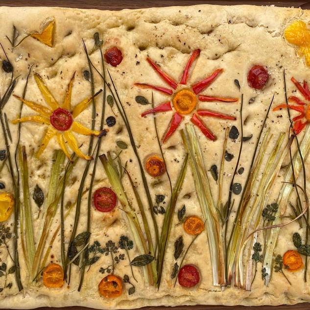 Kräuterfocaccia made by Sibylle