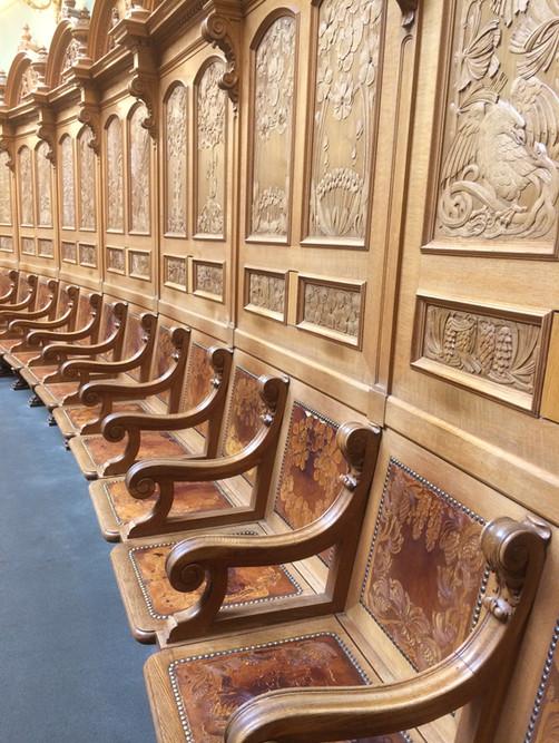 Ständeräte-Plätze im Nationalratssaal