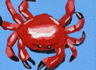 Inspiration from the easel: Crab