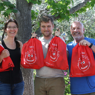 Pastor Carlos Sales and Lisa Sales with Joel's Smile Bags before going to Malawi