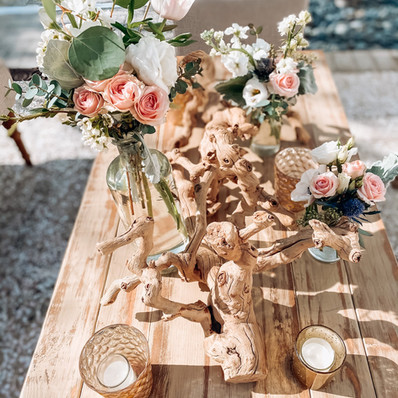 Table Scape with Driftwood