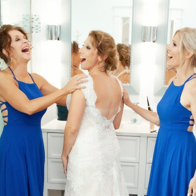 Getting ready with your sisters...