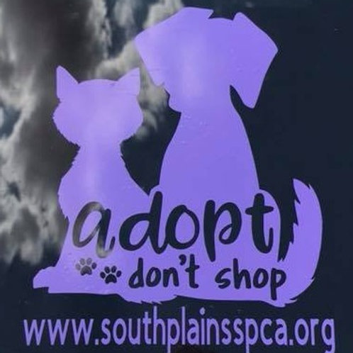 Car Decal - Assorted Colors - Adopt Don't Shop - SPSPCA