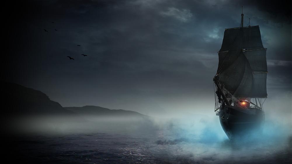 The Persephone at sea