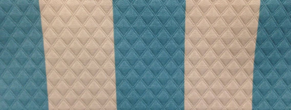 Teal and Cream Quilted