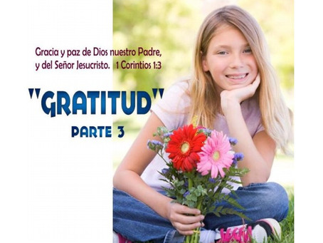 Gratitud Leccion 3