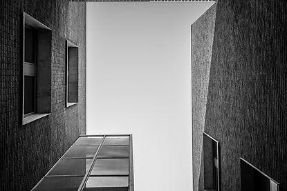 gebouwen grijstint