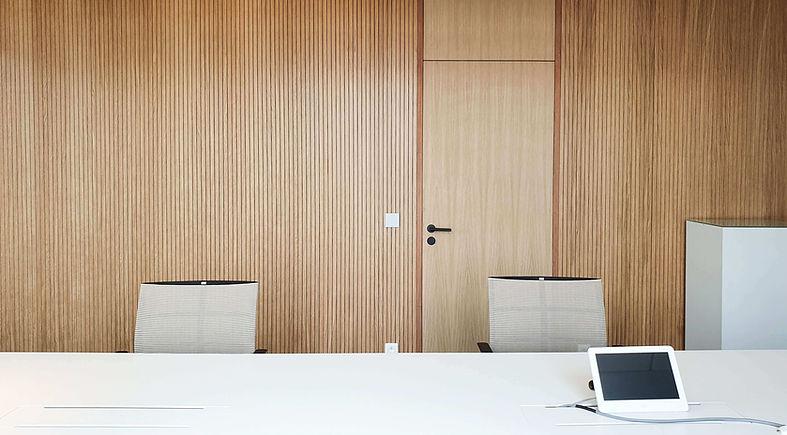 bureau architectuur muur in hout