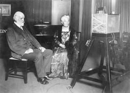 Henrietta Barnett at the BBC studio 1925