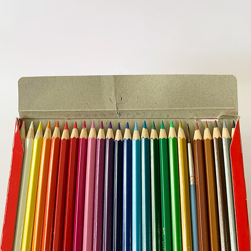 24 Watercolour Pencil Set