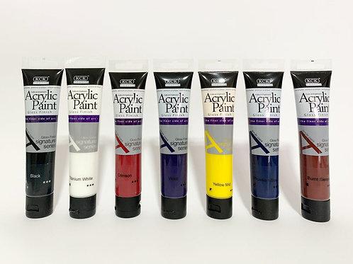 7 Basic Acrylic Paint Set (75ml each)