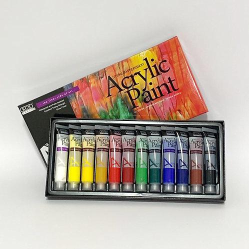 12 Basic Acrylic Paint Set (12ml each)