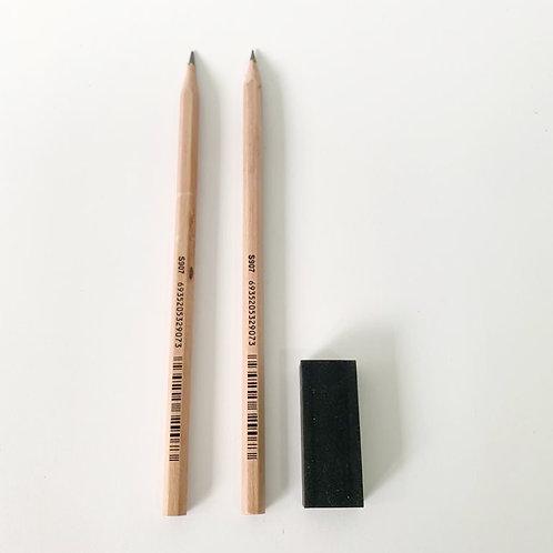 Pencils & Eraser Set