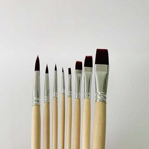 8 Brushes Set