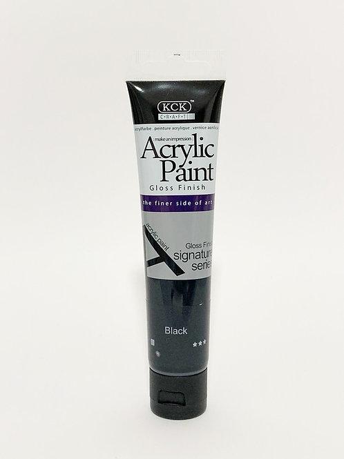 Black Acrylic paint (75ml)