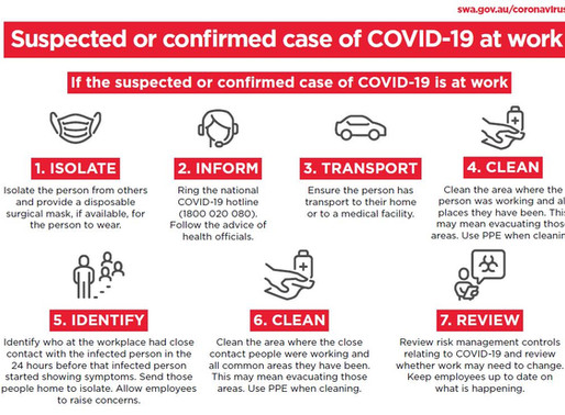 COVID-19 Information for Workplaces: Information for Workers and What to do if a Worker has COVID-19