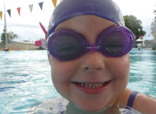 Danielle Taylor and Alpha Learn to Swim awarded by Swim Australia