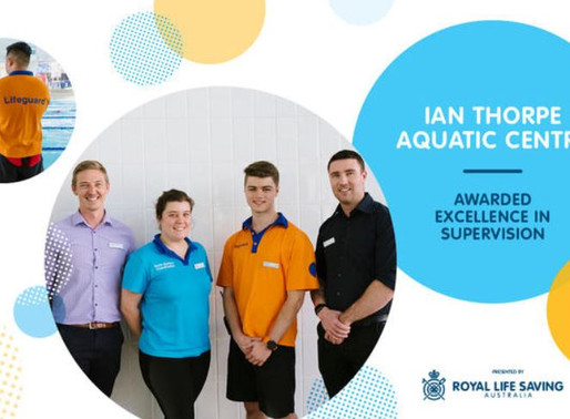 Ian Thorpe Aquatic Centre Wins Excellence in Supervision