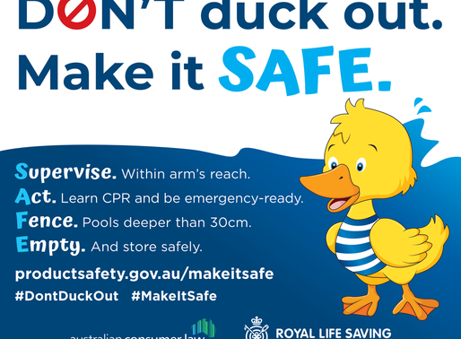 Don't Duck out - Make Portable Pools Safe