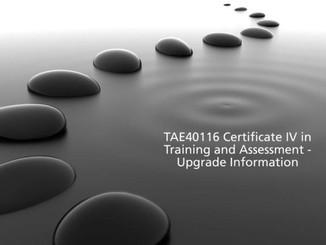 TAE40116 Upgrade Information
