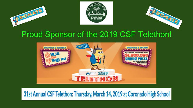 Proud Sponsor of the 2019 CSF Telethon!.