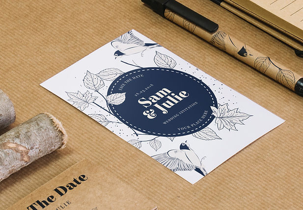 Création graphique particuliers carte invitation visite anniversaire événement